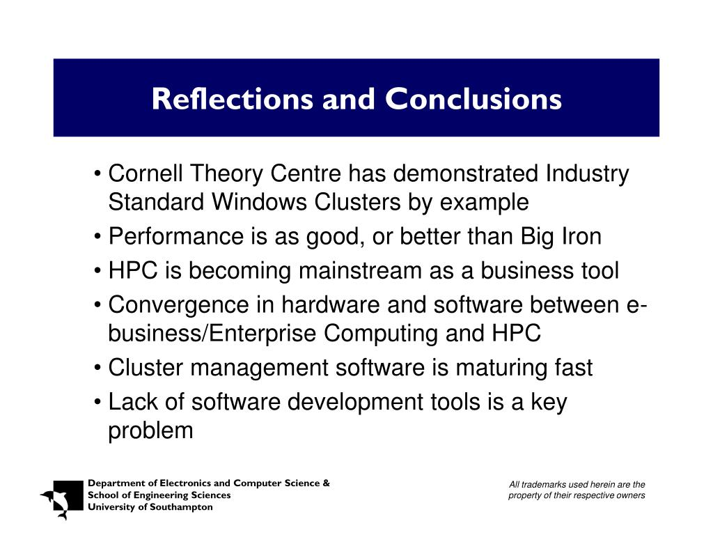 Reflections and Conclusions