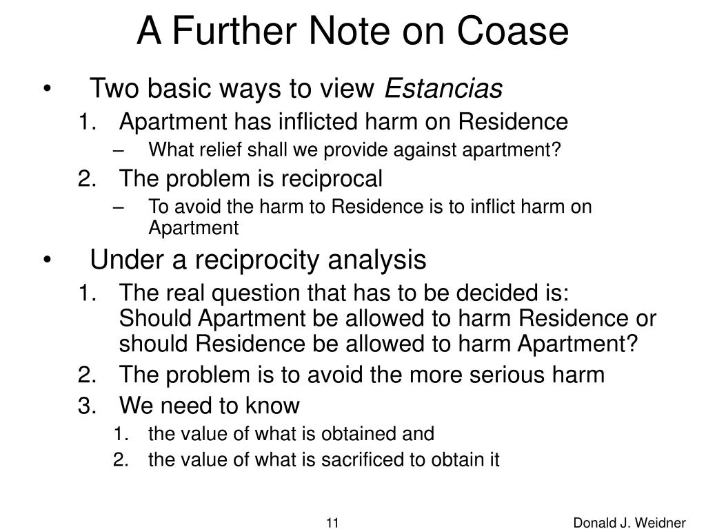 A Further Note on Coase