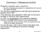 commons v westwood cont d69