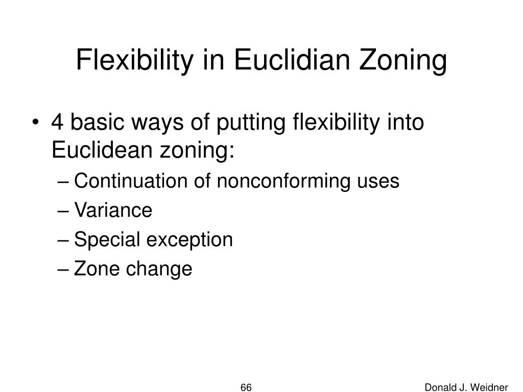 Flexibility in Euclidian Zoning