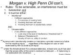 morgan v high penn oil con t