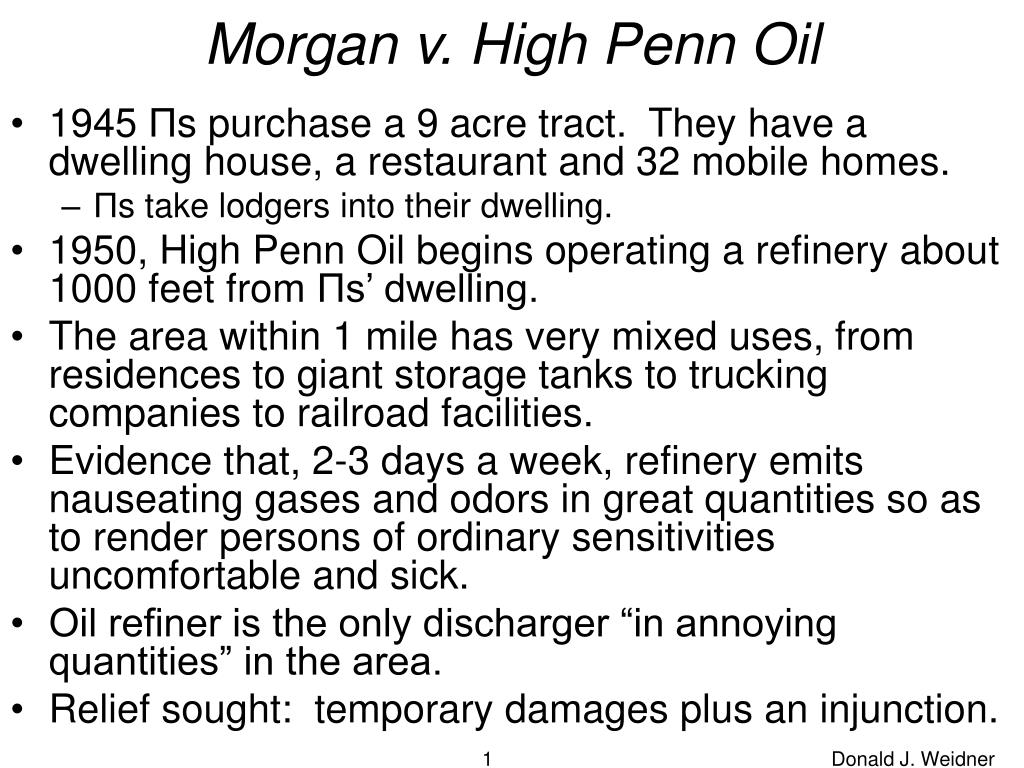 morgan v high penn oil