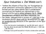 spur industries v del webb con t22
