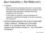 spur industries v del webb con t23