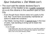 spur industries v del webb con t25