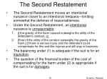 the second restatement