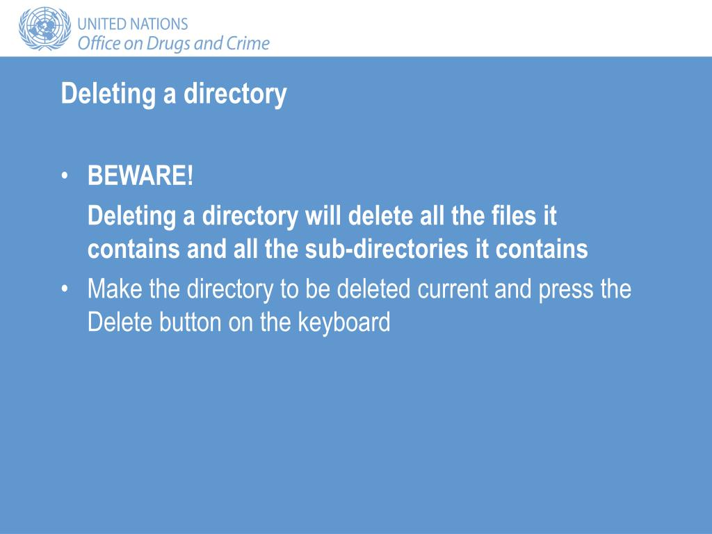 Deleting a directory