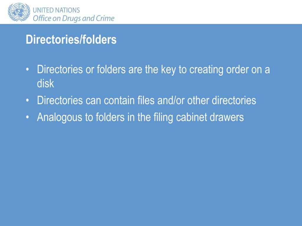 Directories/folders