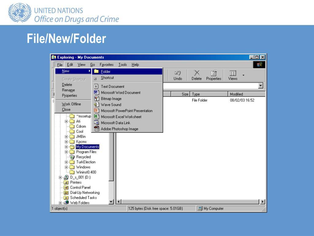 File/New/Folder