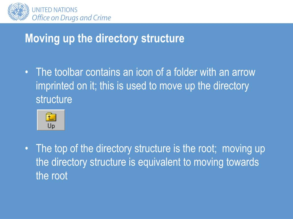 Moving up the directory structure