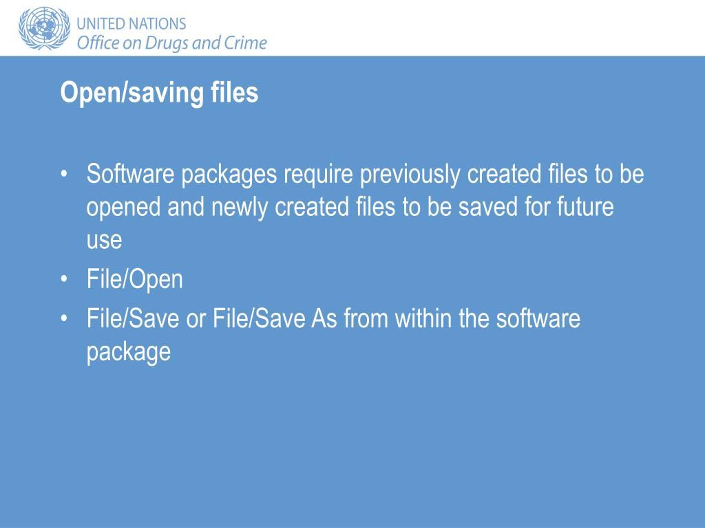 Open/saving files