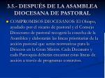 3 5 despu s de la asamblea diocesana de pastoral