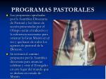 programas pastorales