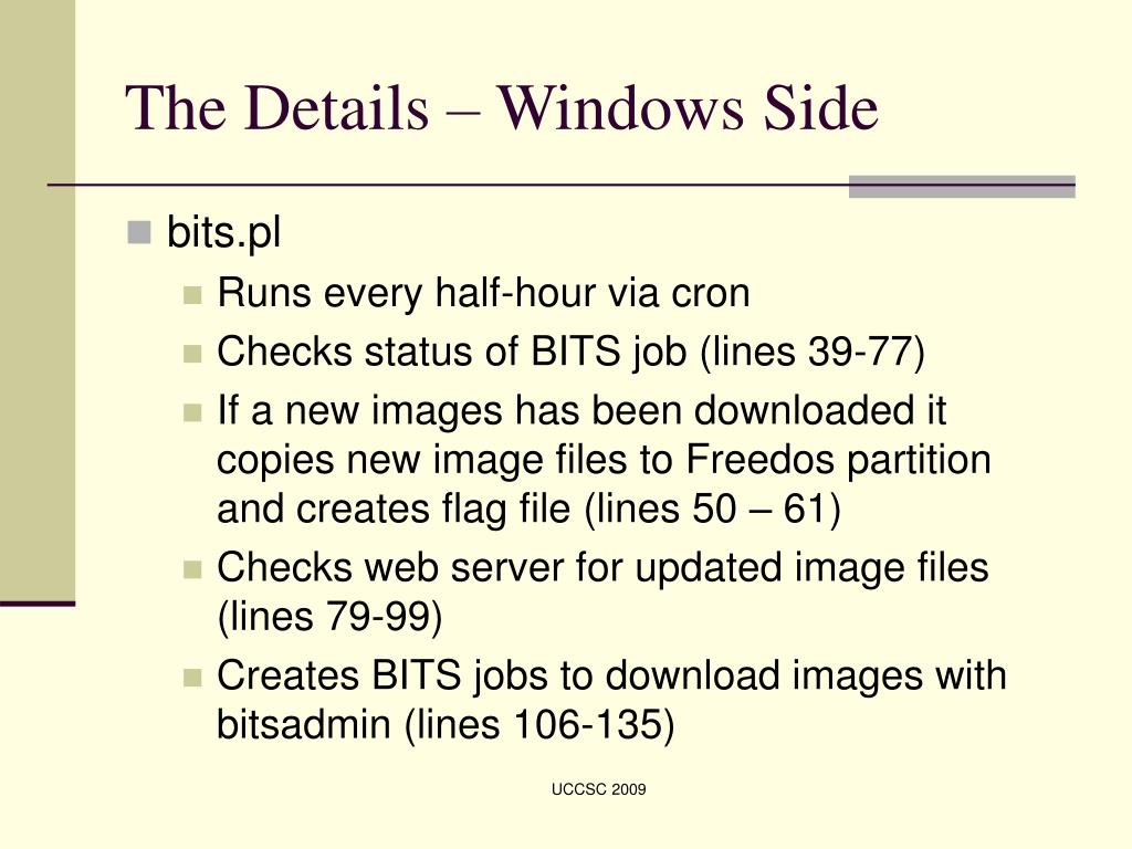 The Details – Windows Side