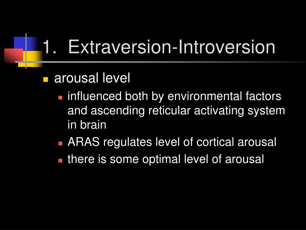 1.  Extraversion-Introversion