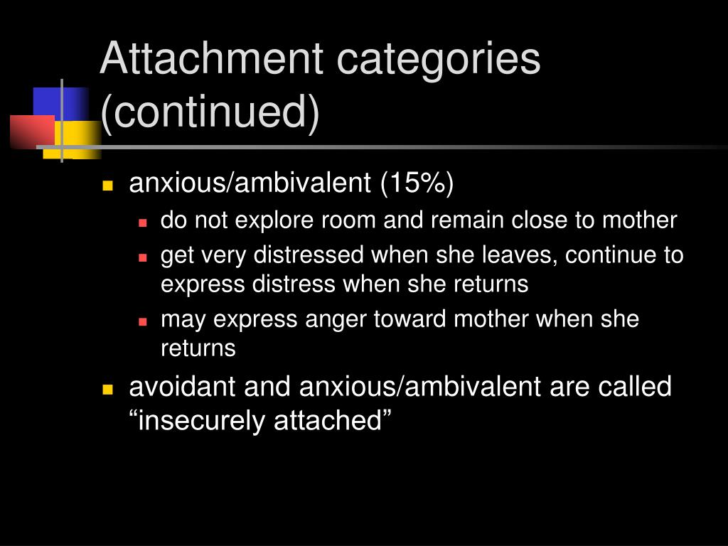 Attachment categories (continued)
