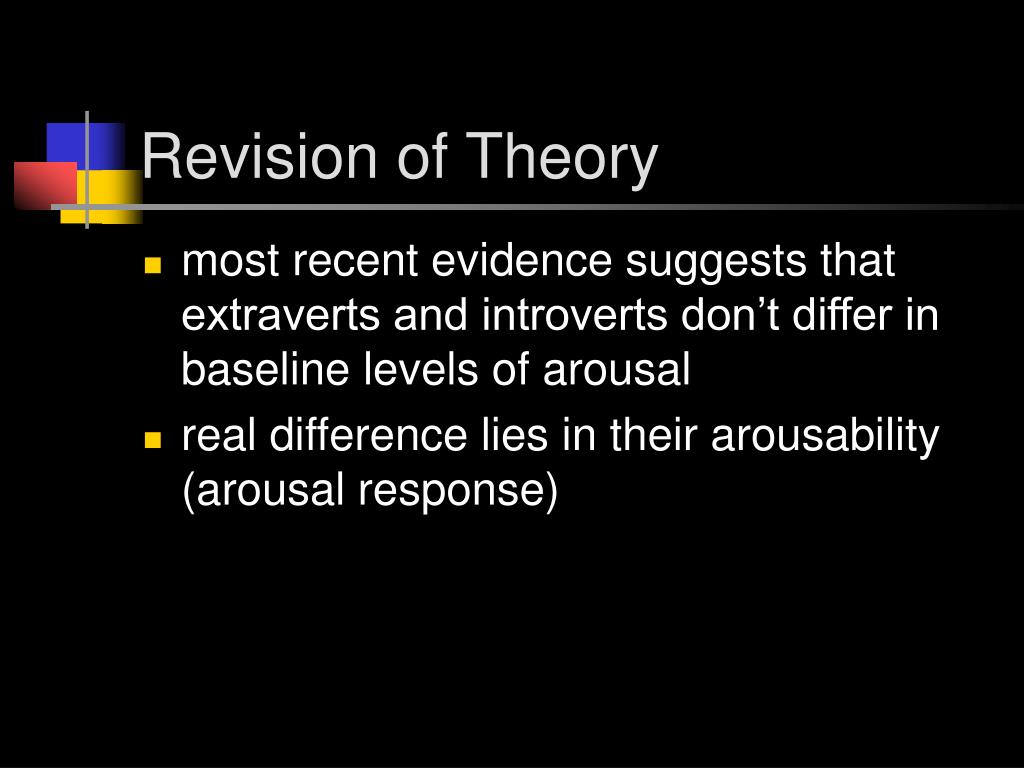 Revision of Theory