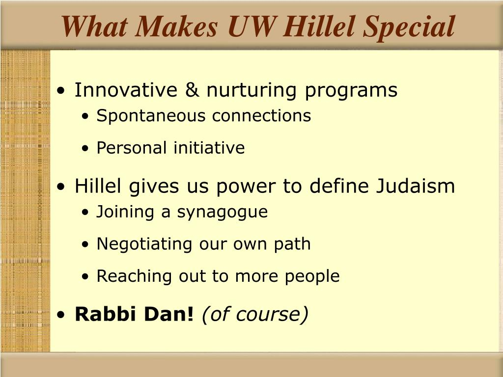 What Makes UW Hillel Special