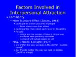 factors involved in interpersonal attraction18