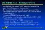 epa method 245 7 mercury by cvafs