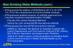 new drinking water methods cont
