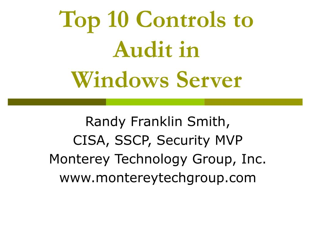 Top 10 Controls to Audit in