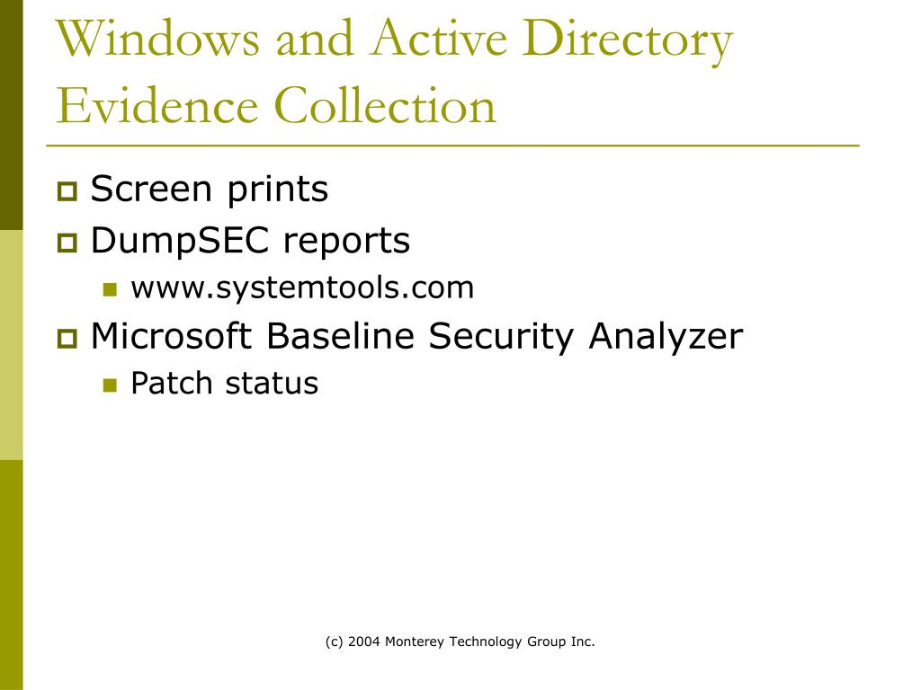 Windows and Active Directory Evidence Collection