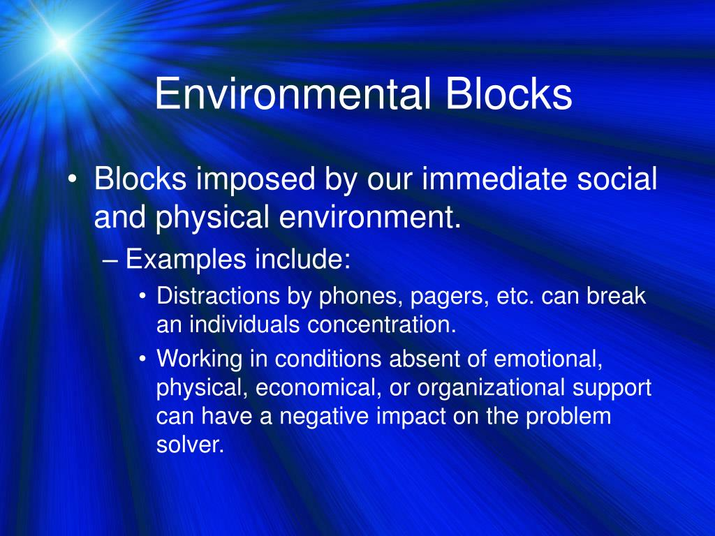 Environmental Blocks