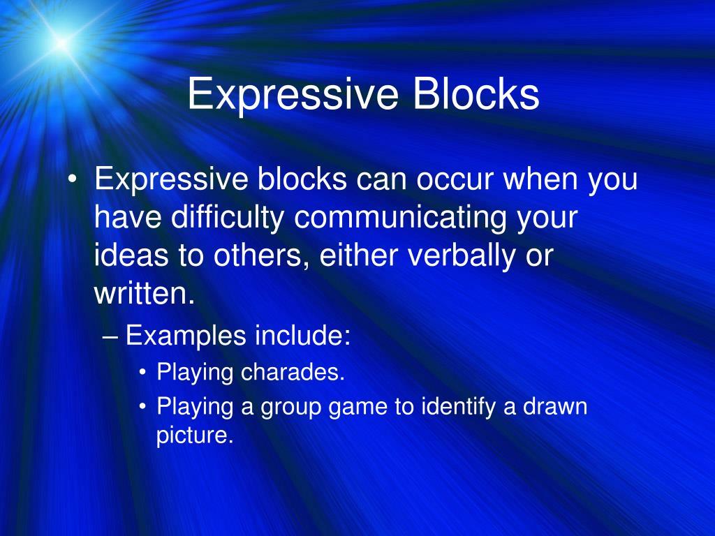 Expressive Blocks