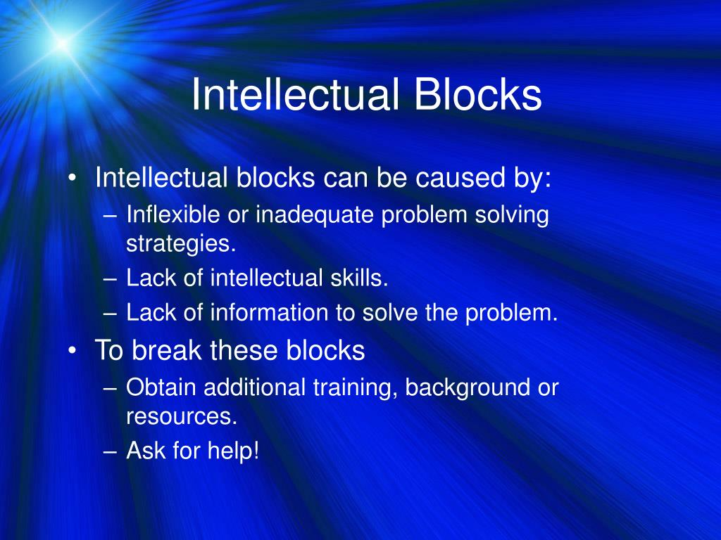 Intellectual Blocks