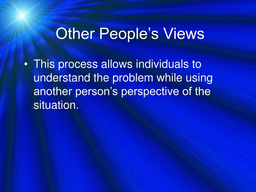 Other People's Views