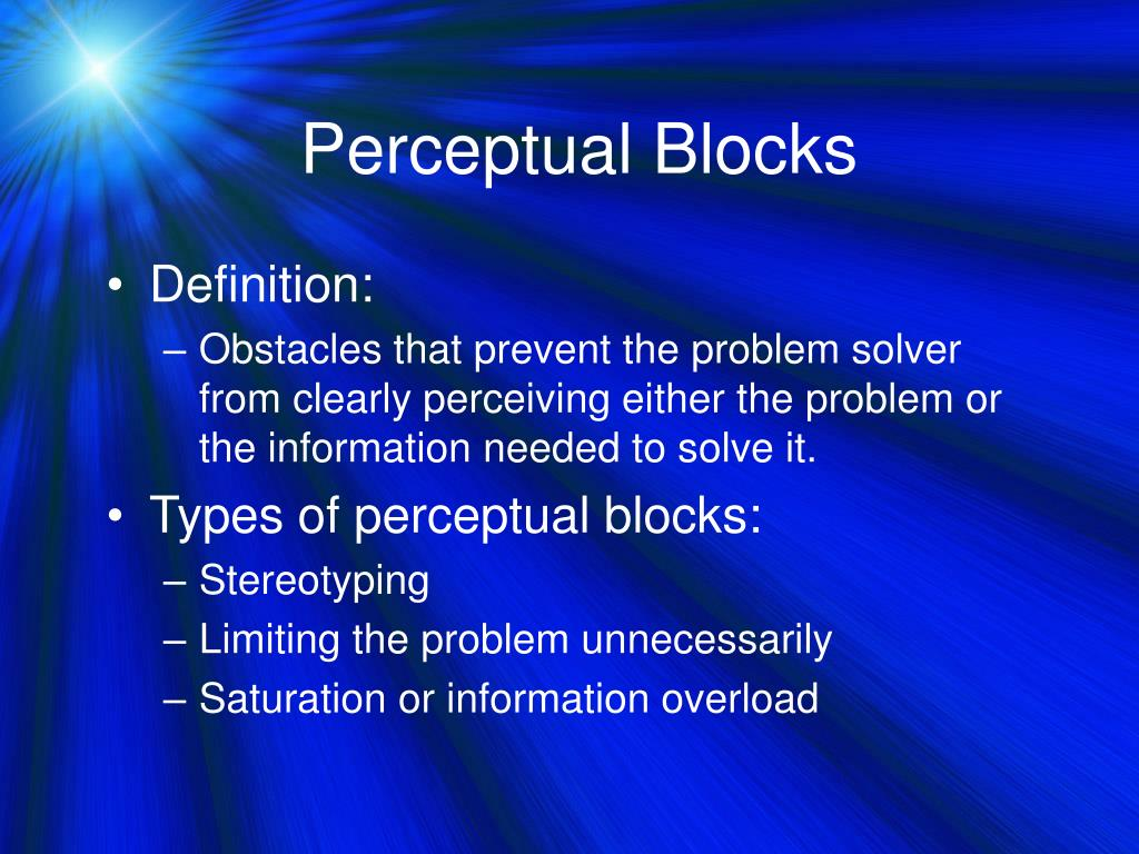 Perceptual Blocks