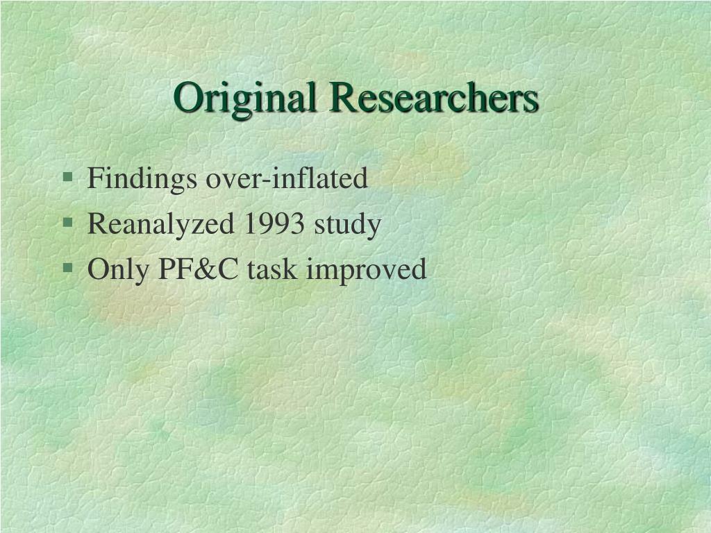 Original Researchers