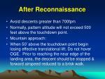 after reconnaissance
