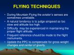 flying techniques