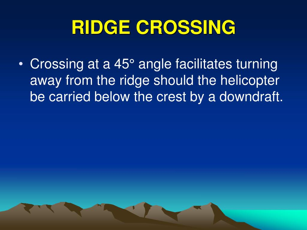 RIDGE CROSSING