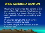 wind across a canyon
