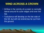wind across a crown