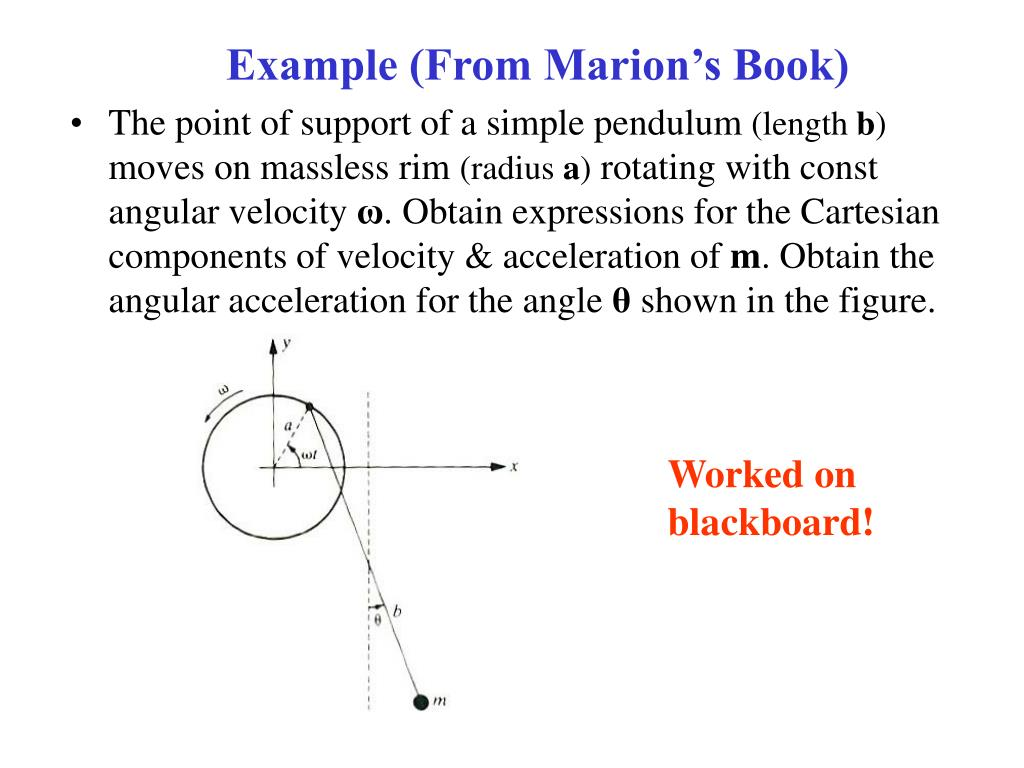 Example (From Marion's Book)