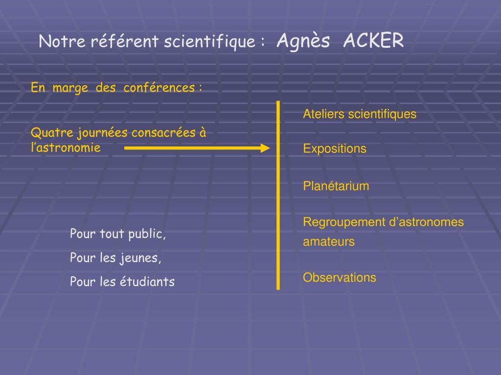 Notre référent scientifique :