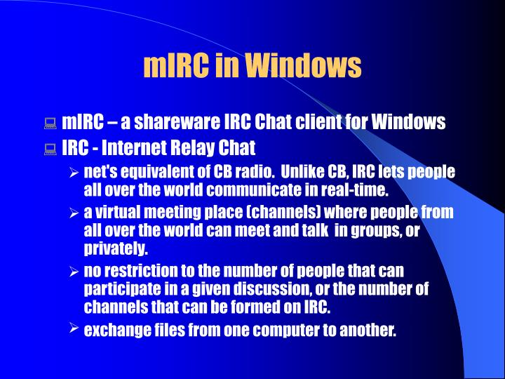 Mirc in windows3