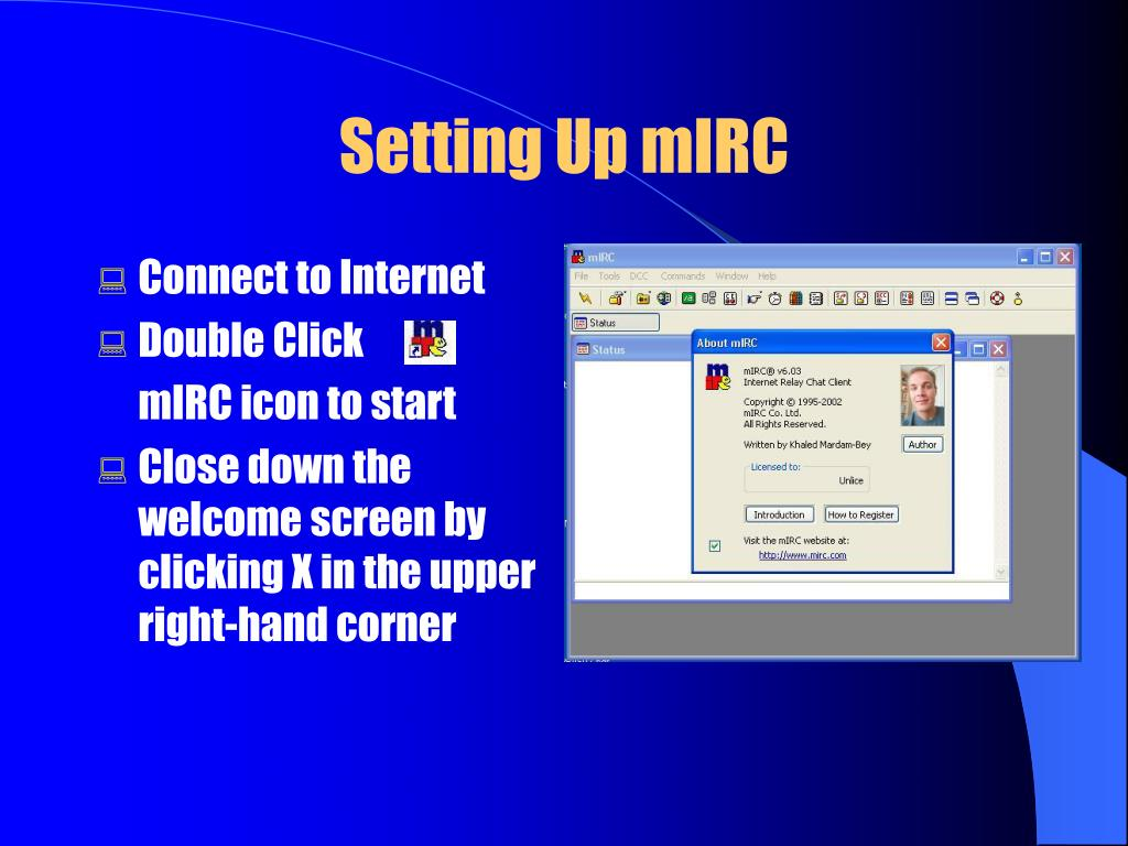 Setting Up mIRC
