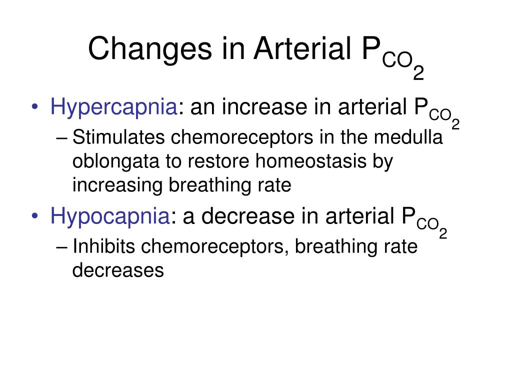 Changes in Arterial P
