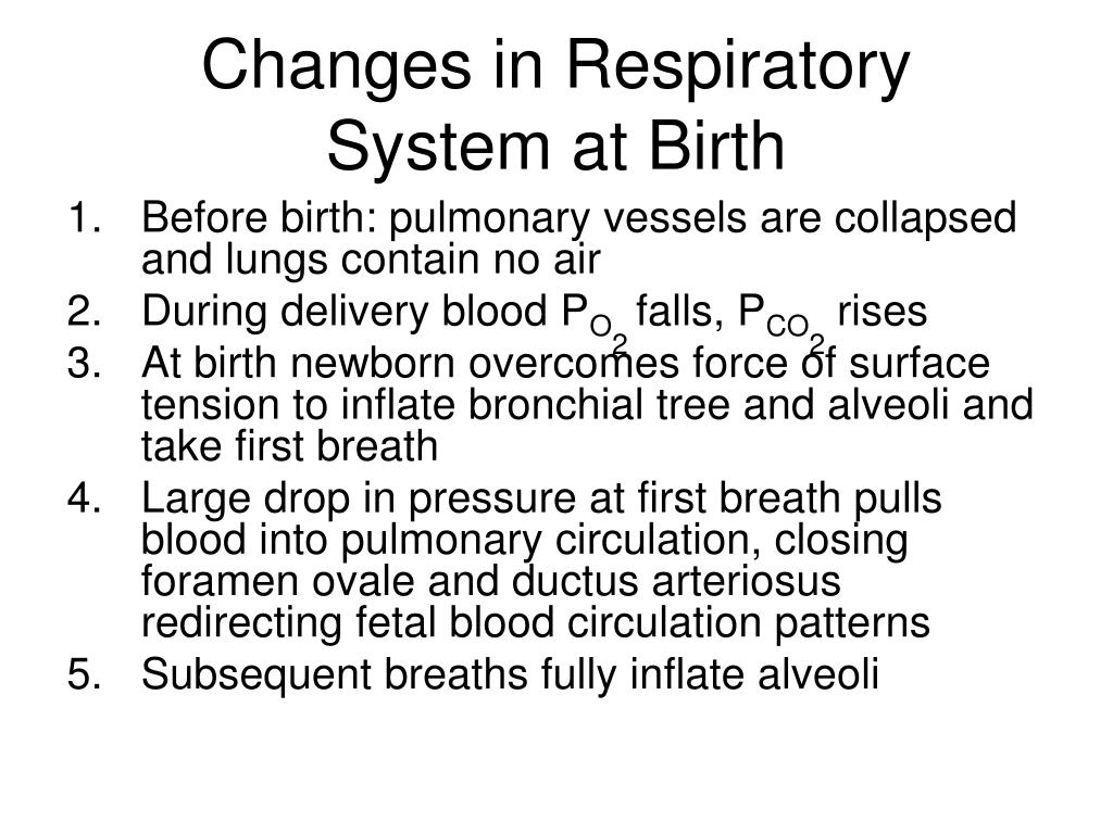 Changes in Respiratory