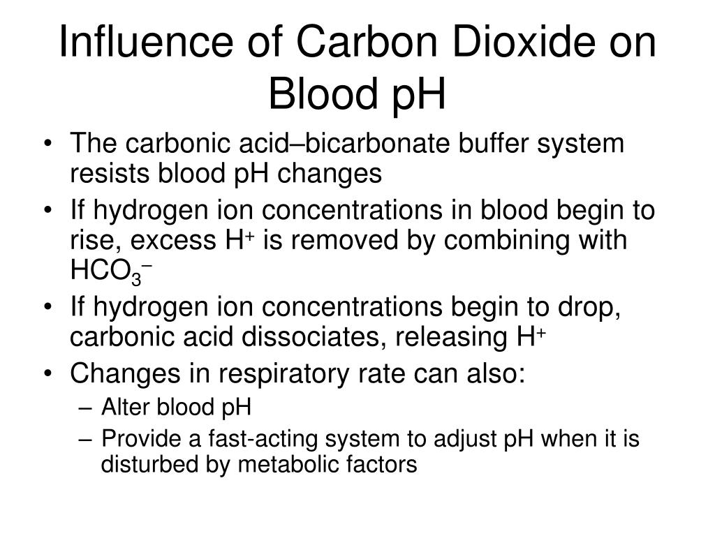 Influence of Carbon Dioxide on Blood pH