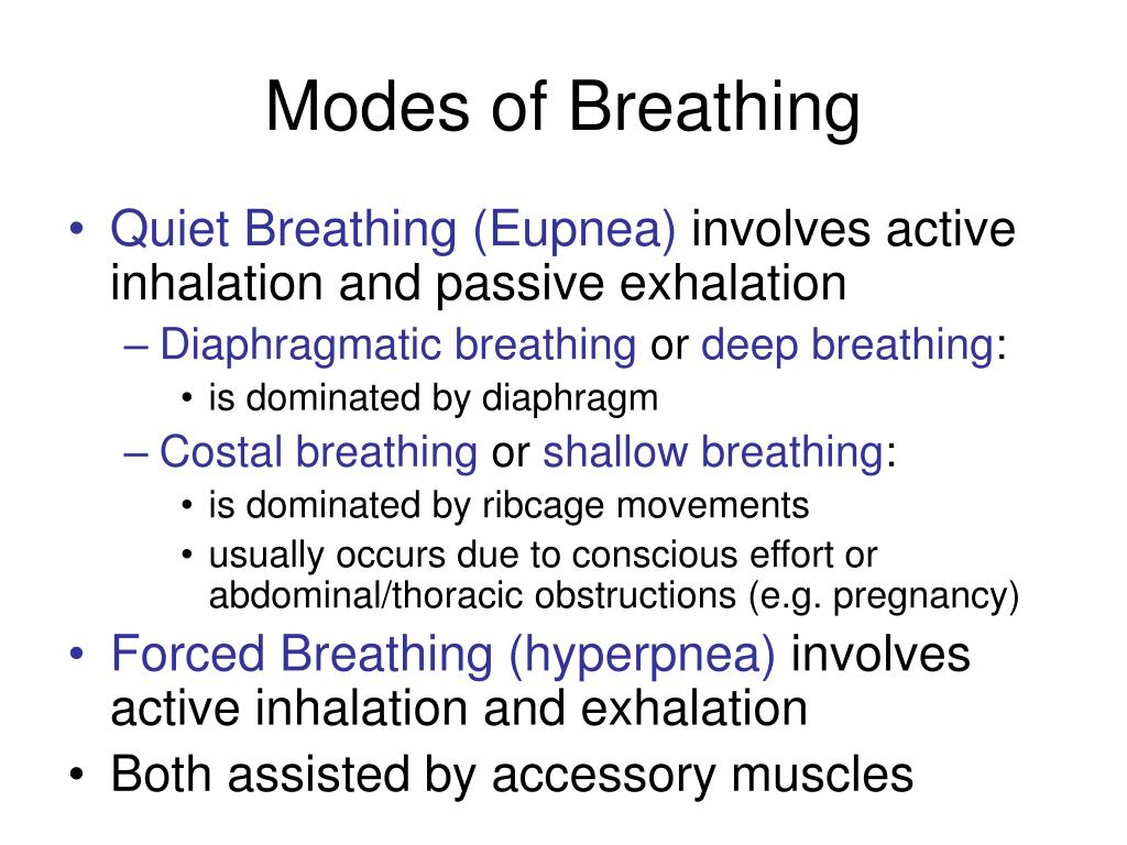 Modes of Breathing