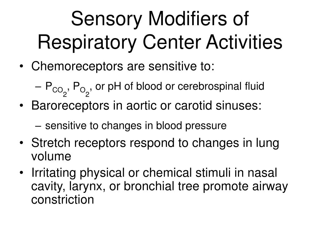 Sensory Modifiers of Respiratory Center Activities