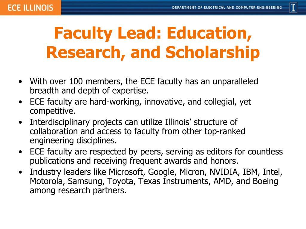 Faculty Lead: Education,