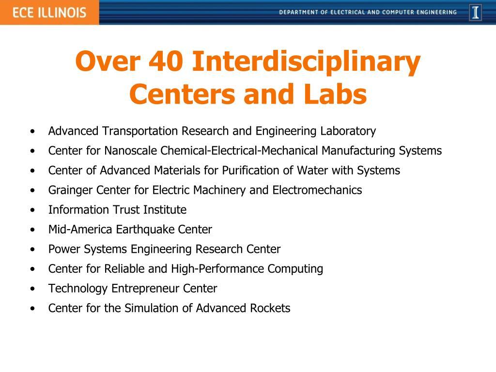 Over 40 Interdisciplinary