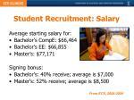 student recruitment salary